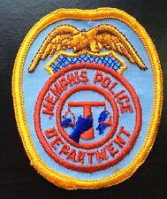 Vintage Memphis Police Shoulder Patch Flash USA United States Tennessee