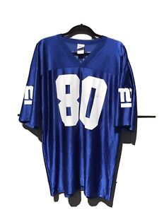 NFL Replica NY Giants XL Short Sleeve Blue Jersey #80 SHOCKEY