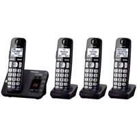 Panasonic KX-TGE234B DECT 6.0 Expandable Cordless Phone System