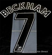 Manchester united BECKHAM 7 Nom/Numéro Set Football Shirt Lextra 07-13 Player