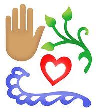 Sizzlits Flourish, Hand, Heart & Vine large die #658472 Retail $19.99 Retired