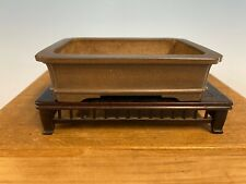 Rectangle Shohin Size Bonsai Tree Unglazed Pot Made By Wajaku 5 1/4�