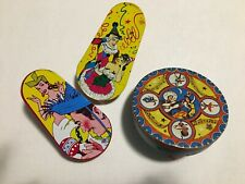 Vintage 1950s Lot Of Lithographed Metal Noise Makers & Plastic Party Favors!