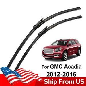 "For GMC Acadia MK1 2012-2016 24"" 21"" 2Pcs/Set Front Windshield Wiper Blades US"