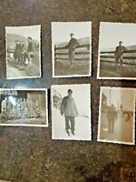 6 Vintage Hallmark Line-Droppers Postcards Adorable girl with reindeer on sled