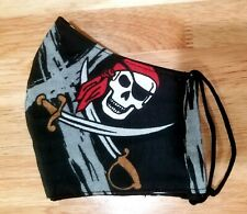 Pirate face mask adults handmade  reusable