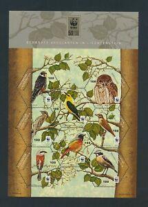 XC57930 Liechtenstein WWF animals fauna birds good sheet MNH