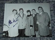 JOHN LEYTON -  SINGER - 10x8 PHOTO  SIGNED.  with Billy Fury & The Mudlarks