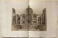 1890 RETABLE ÉGLISE BAUME LES MESSIEURS fototipia originale d'epoca Jura Poligny