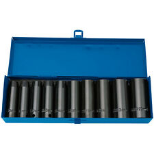 "Draper Expert 10 Piece 1/2"" Sq Dr Hi-Torq Metric Deep Impact Socket Set 38369"