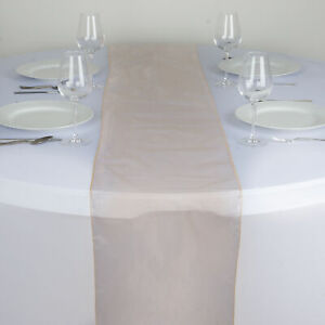 """Peach ORGANZA 14x108"""" Table RUNNER Wedding Party Tabletop Decorations SALE"""