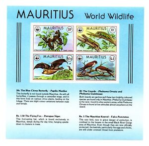 Mauritius: WWF Wildlife Protection Tiere,Vögel 21.09.1978 Postfrisch.