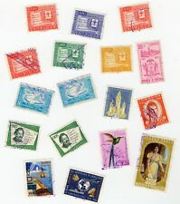 Stamps from Venezuela 1958-1966 Lot of 17 Postage Air Mail Used