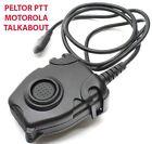 AIRSOFT TOMTAC PELTOR PTT BLACK 2 WAY RADIO SWITCH SORDINS COMTAC MOTOROLA 1 PIN