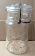 Vintage Ball Eclipse Wide Mouth Jar with glass lid and wire closure