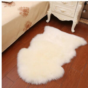 100% Genuine New Zealand Super-Soft Large Sheepskin Sheep Skin Rug white Ivory