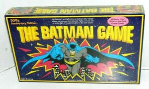 BATMAN THE GAME NEW SEALED UNIVERSITY GAMING GLOW IN THE DARK BOARD 3+ PLAYERS