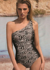 GOTTEX ARGENTO CONTOUR Black Draped One Shoulder Swimsuit UK 6 BNWT/RRP £145