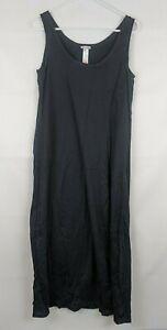 Hanro Long Tank Gown, Black, Women's Medium
