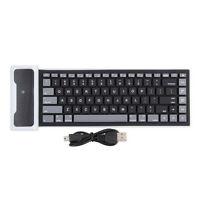 New Flexible Silicone Wireless Bluetooth Mini Keyboard for PC Laptop iPad LD