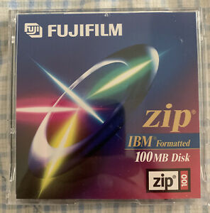 Eleven (11) Fujifilm Zip 100 Disks, IBM Formatted, Pre-Owned, with Cases