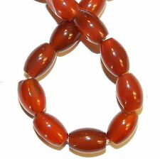 NG2891f Red Agate 12mm Tapered Oval Gemstone Beads 15""