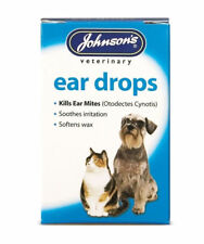 Johnsons Ear Drops for Dogs and Cats, Kills Mites 15ml