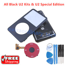 U2 Black Housing Back Cover Red Clickwheel for iPod Classic 6th 7th 80 120 160GB