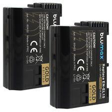 2x Akku für Nikon EN-EL15 | 60422 | 2040mAh | D800 D7000 D7100 D8000 Nikon 1 V1