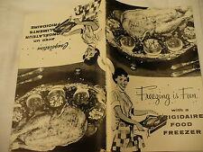 FREEZING IS FUN Frigidaire freezer recipe booklet congelation ave un congelateur