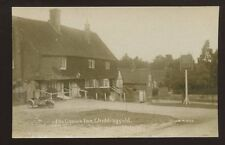 Surrey CHIDDINGFOLD Early 3 wheel motorcycle outside The Crown Inn early RP PPC