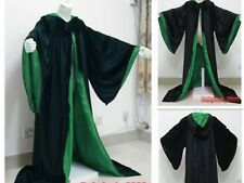 New In stock Black Green Cape Hooded Cloak Wizard Robes Costumes