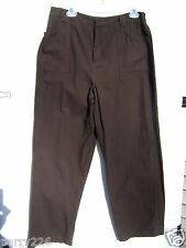 Youtopia Women's Chocolate Brown Cotton Pants Size Large