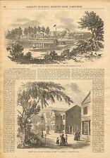 Watertown, MA. U.S. Arsenal, Armory, Magazine, Vintage, 1853 Antique, Print,