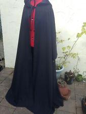 long hooded cloak with sleeves  black (t56)