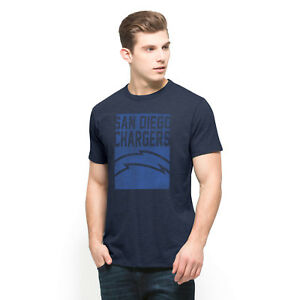 NFL Men's San Diego Chargers Vintage Inspired Logo Soft Cotton T-Shirt by '47