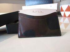 NUOVO Paul Smith In Pelle Stampa Mimetica Credito Business Card Holder Case