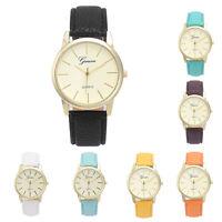 Women Casual Simple Leather Analog Quartz Wrist Watch Laddies Fashion Watches