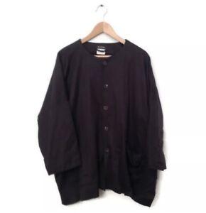 ESKANDAR Coat Jacket 1 Brown 100% Baby Camel Hair Lagenlook Silk Lining Women's