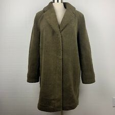 Velvet By Graham & Spencer Trichelle Sherpa Coat L Womens Olive Green Oversized