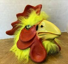 Rooster Chicken Mask Realistic Animal Latex Costume Head Halloween Party Cosplay