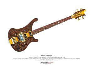 Lemmy's Rickenbastard guitar ART POSTER A3 size
