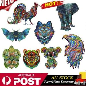 New Animal Shape Wooden Jigsaw Puzzles Pieces Adult Kid Education Toy Games Gift