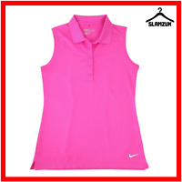Nike Womens Victory Sleeveless Golf Polo Shirt S Small Pink Tour Perf Dri Fit