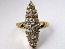 1,30 CTW, ESTATE!! Victorian 18k Gold and Platinum Diamond Ring! Handmade.