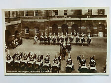 Changing the Guard Whitehall Vintage B&W Postcard c1930s