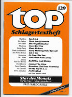 top Schlagertextheft Nr.129 von 1985 mit Paul Hardcastle, Star-Lexikon Falco
