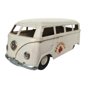 Rare 1960's Volkswagen VW Kombi Ambulance Friction Tin Toy Car Estrela Brazil