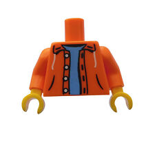Lego Torso in orange Hoodie Jacke Sweater + gelbe Hände 973pb0906c01 Neu