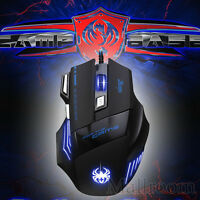 7 Buttons LED Optisch USB 5500DPI Gaming Mouse Pro Gamer PC Kabelgebunden Maus